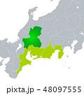ベクター 岐阜県地図 岐阜のイラスト 48097555