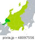 ベクター 福井県地図 福井県のイラスト 48097556