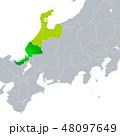 ベクター 福井県地図 福井県のイラスト 48097649