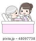 入浴介助 シニア女性と女性介護士 48097738