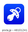 Baby pacifier icon digital blue 48101241
