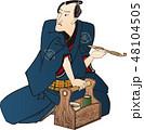 商人 キセル 浮世絵のイラスト 48104505
