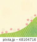 和背景(さくら,市松模様入り)テク 48104716
