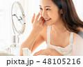 女性 ビューティー 肌の写真 48105216