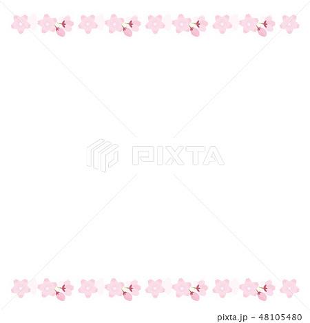 桜 満開 イラスト ベクター 春 ソメイヨシノ 48105480