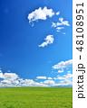 青空 夏 草原の写真 48108951