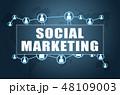 マーケティング マーケッティング ソーシャルのイラスト 48109003
