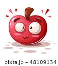 りんご アップル リンゴのイラスト 48109134