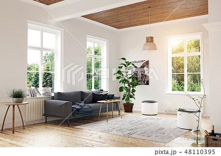 modern scandinavian living room design. 48110395