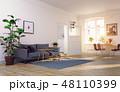 空間 部屋 インテリアのイラスト 48110399