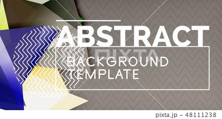 Triangular low poly background design 48111238