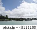 宮古島の風景 港 船 車 海 空 雲 青空 南国 宮古島 沖縄 48112165