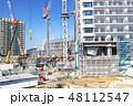 建設現場 クレーン 工事現場の写真 48112547