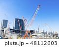 建設現場 建築現場 クレーンの写真 48112603