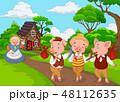 漫画 小さい 幼いのイラスト 48112635