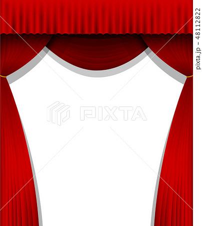 舞台の赤い暗幕カーテン (縦) 48112822