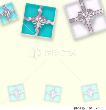 透明感のあるギフトボックスの背景 (誕生日、バレンタインデー、母の日 、クリスマス) 48112838