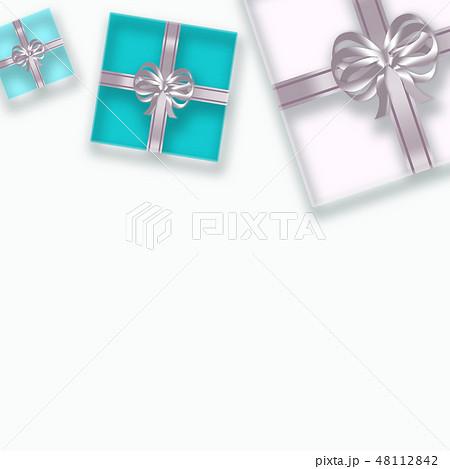 透明感のあるギフトボックスの背景 (誕生日、バレンタインデー、母の日 、クリスマス) 48112842
