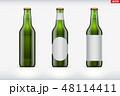 モックアップ ビール びんのイラスト 48114411
