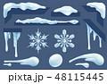氷柱群 アイス 氷のイラスト 48115445