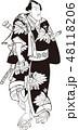 武士 大江戸五人男達之内 浮世絵のイラスト 48118206