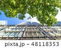 高層ビル 都会 見上げるの写真 48118353