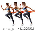 女性 フィットネス エクササイズの写真 48122358