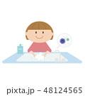 女の子 子供 風邪予防のイラスト 48124565