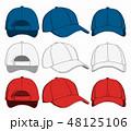 キャップ ベースボール 帽子のイラスト 48125106