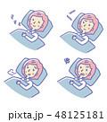 女性 睡眠 寝るのイラスト 48125181
