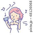 女性【線画・シリーズ】 48126068