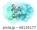 フローラル 木の葉 葉のイラスト 48126177