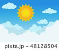 背景 くも 雲のイラスト 48128504