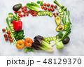 サラダ サラダ 野菜の写真 48129370