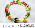 サラダ サラダ 野菜の写真 48129383