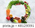 サラダ サラダ 野菜の写真 48129391
