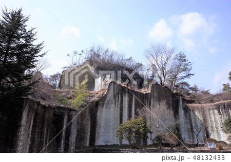 地下の採石場跡、石切り場跡、歴史的、栃木県宇都宮市、大谷公園、大谷資料館 48132433