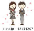 卒業 卒業生 桜のイラスト 48134207