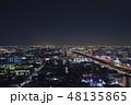 東大阪市 夜景 高速道路の写真 48135865