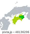 徳島県地図と四国地方 48136206