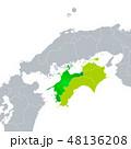 愛媛県地図と四国地方 48136208