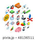 取引 アイコン セットのイラスト 48136511