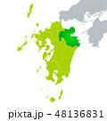 大分県地図と九州地方 48136831