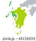 長崎県地図と九州地方 48136839