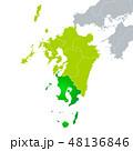 鹿児島県地図と九州地方 48136846
