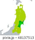 宮城県地図と東北地方 48137513