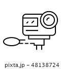 Action camera icon, outline style 48138724