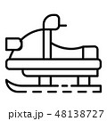 Snowmobile icon, outline style 48138727