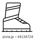 Ski boot icon, outline style 48138728
