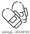Ski gloves icon, outline style 48138729
